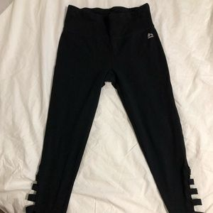 Small RBX Cotton leggings with cut outs BLACK